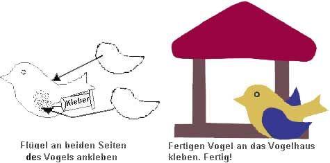vogelhaus winter basteln zeichnen kunst kinder vorlage basteln winter pinterest. Black Bedroom Furniture Sets. Home Design Ideas