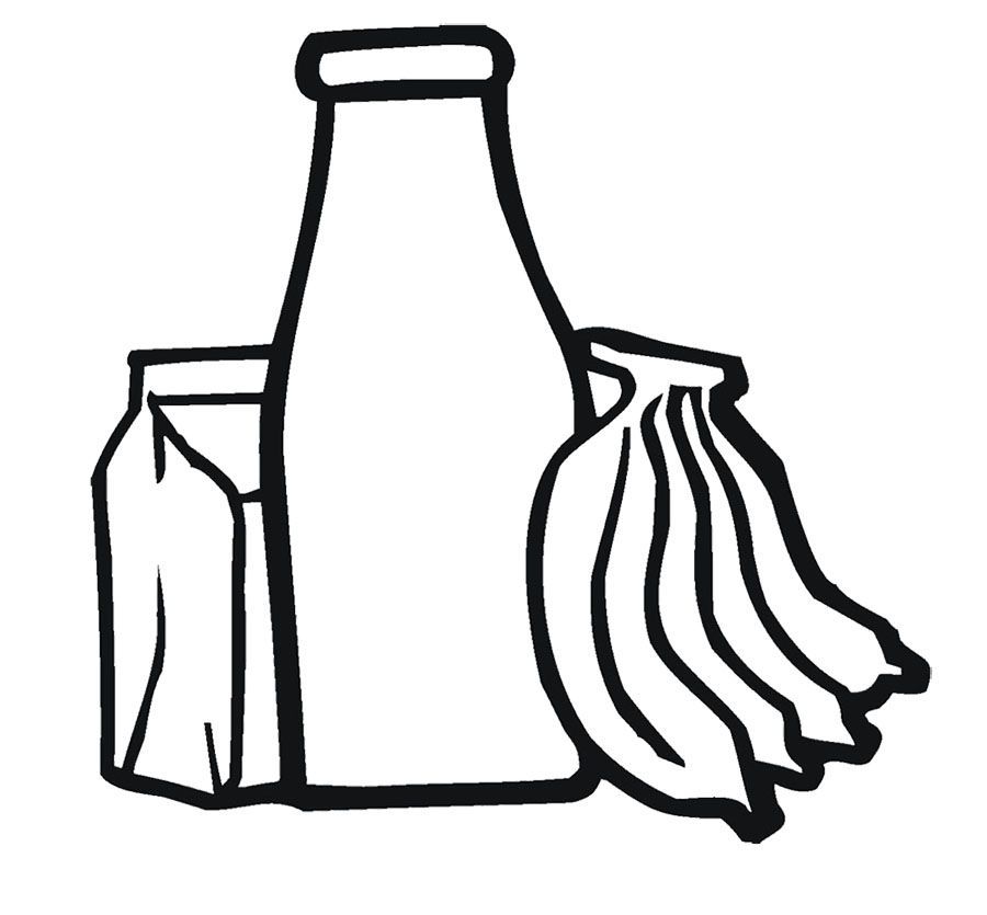 Banana And Fruit Drinks Coloring Page Coloring Pages For Kids