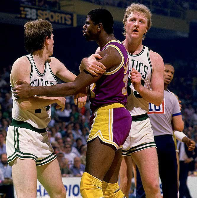 Image result for danny ainge magic johnson rebound