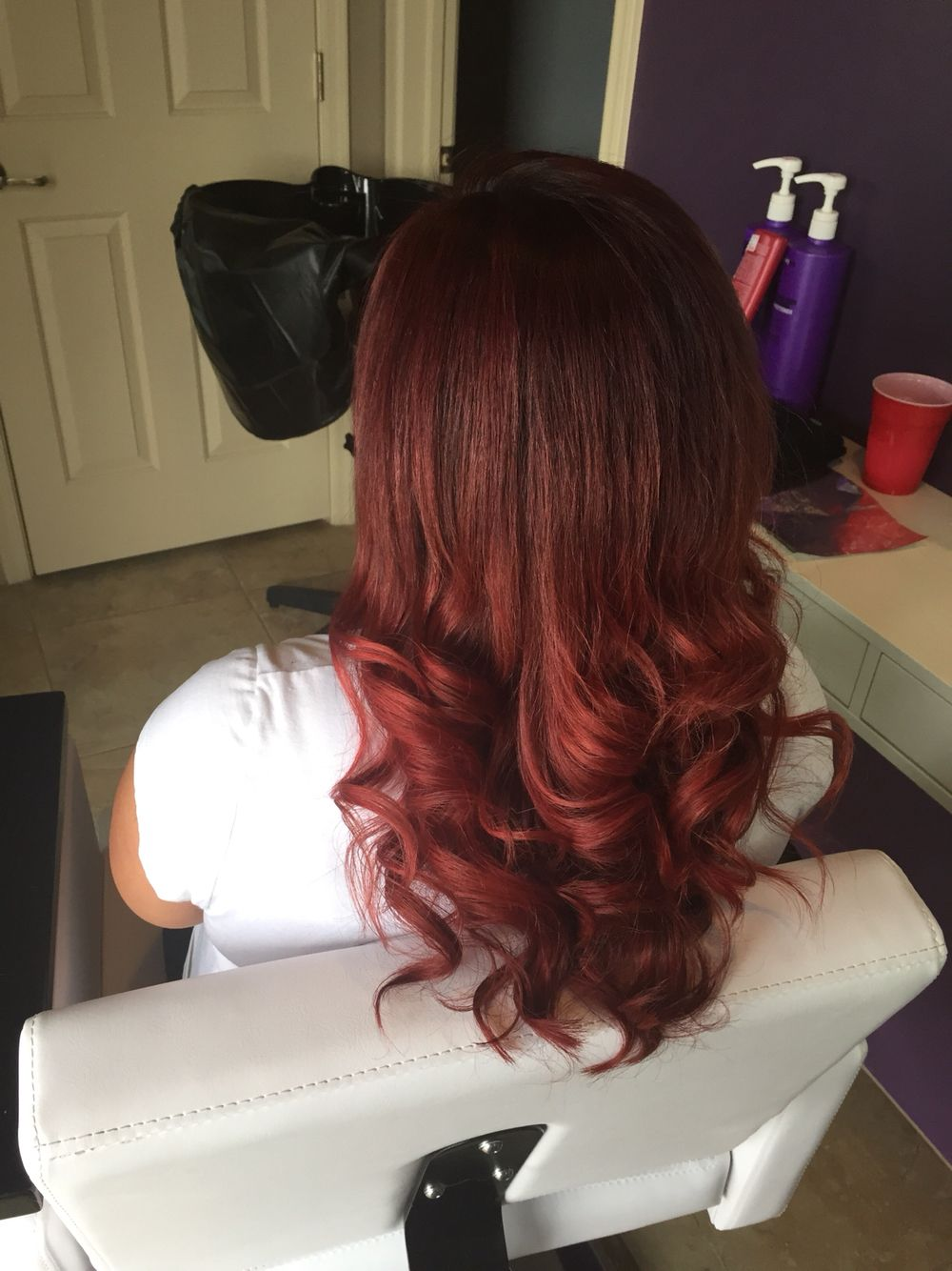 5rv for base and a Matrix Socolor Red on ends.