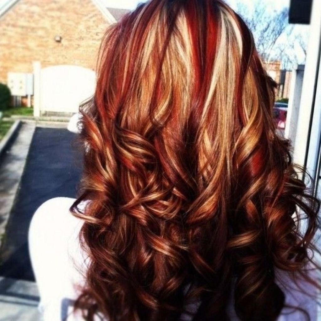 Blonde Highlights On Dark Red Hair Www Pixshark Com