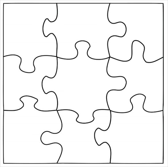 Image result for Template of a puzzle Bullying lessons - blank puzzle template