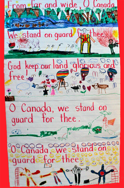 Canada Day Freebies National Anthem Students And English