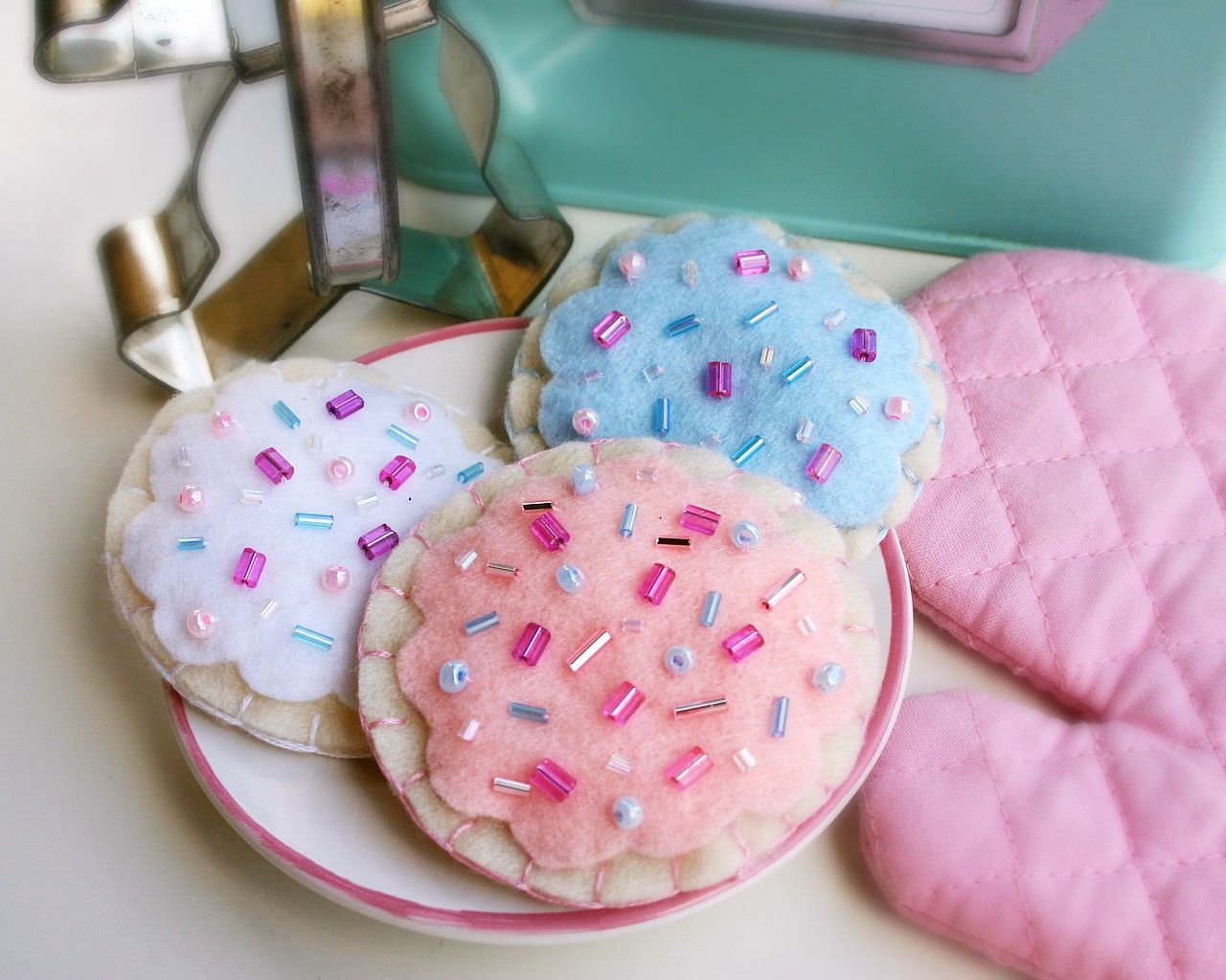 My daughter, Zara, sells these cute felt cookies on Etsy. They look good enough to eat.