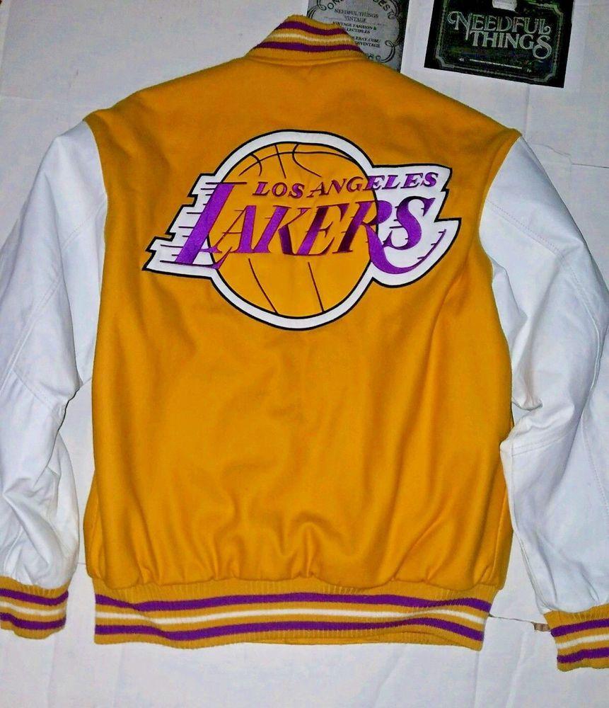 Jh Design Los Angeles Lakers Jacket Reversible Gold White Varsity Nba Large Jeffhamilton Lakers Jacket Los Angeles Lakers Jackets