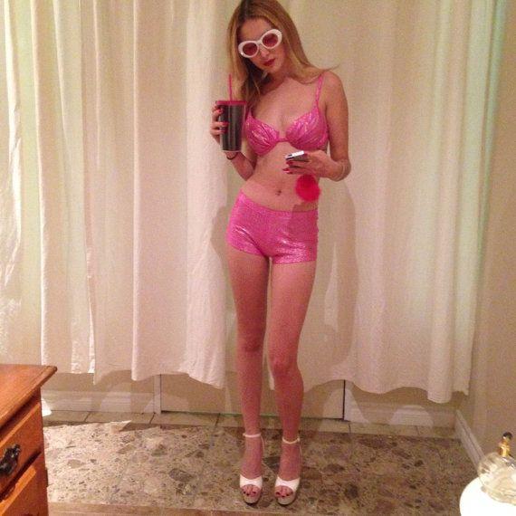 barbie pink glitter bikini by Y2KWORLD on Etsy