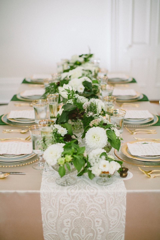 Emerald + Gold Wedding Inspiration at The MerrimonWynne