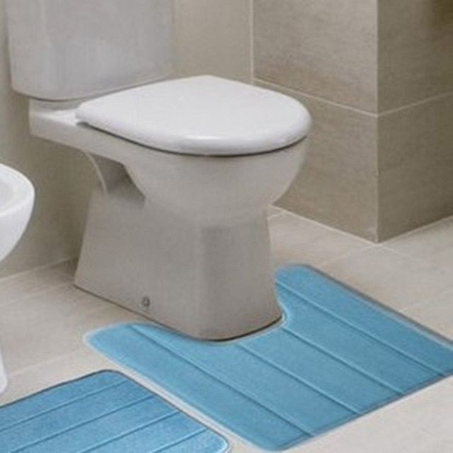 40*60cm Shape High Density Non-slip Bathroom Toilet Pedestal Rug Carpet Floor Mats Bath Review
