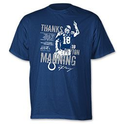 Reebok NFL Manning Memories Men's Tee Shirt