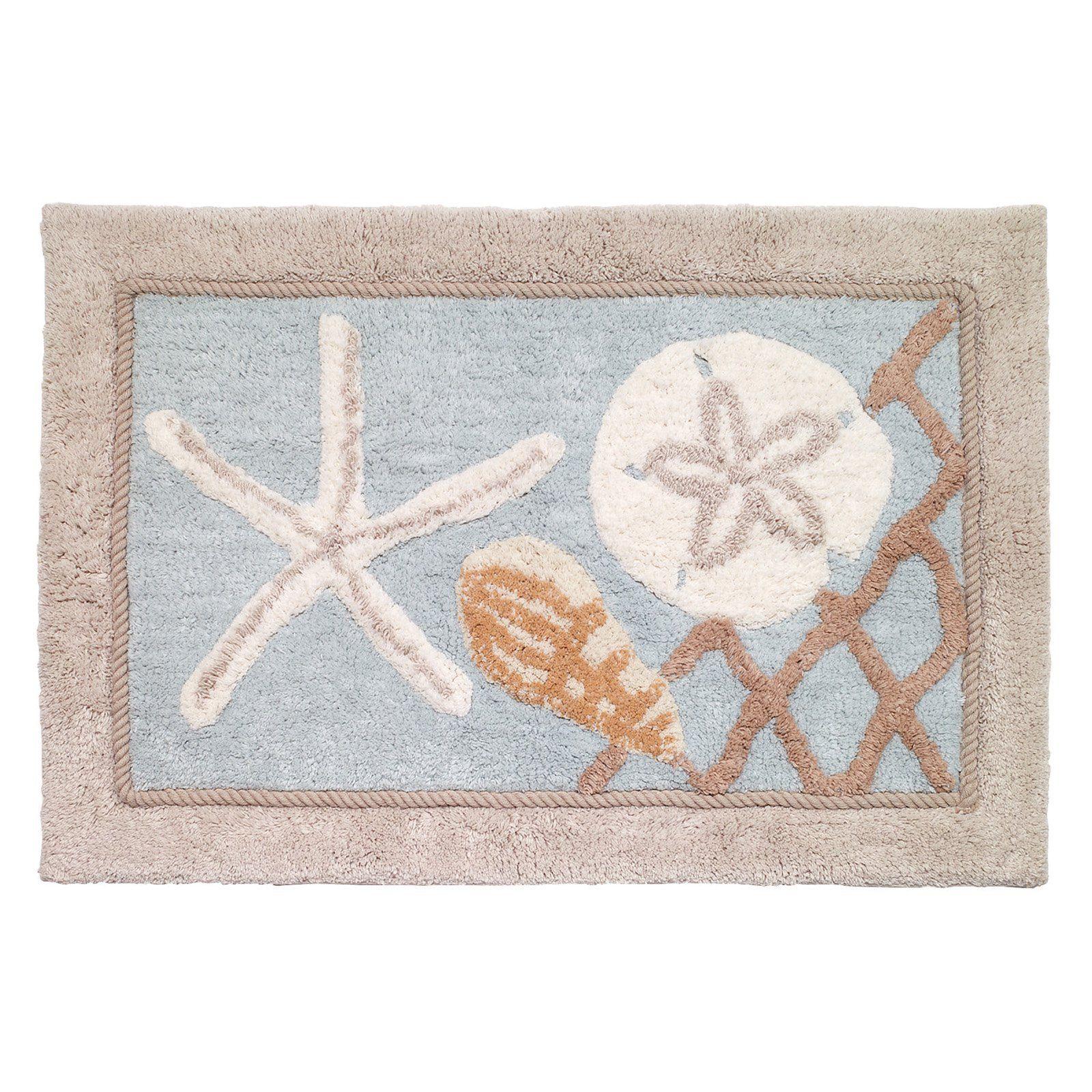 NEW Avanti Antigua Nautical Cotton Bath Rug