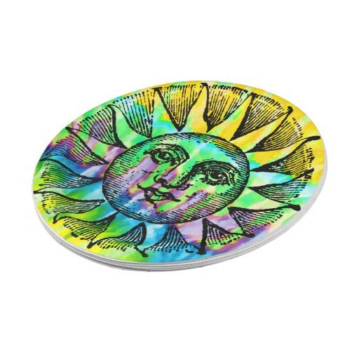 Tie-dye Vintage Sun Paper Plate  sc 1 st  Pinterest & Tie-dye Vintage Sun Paper Plate | Vintage for sale Mo_the_Crow on ...