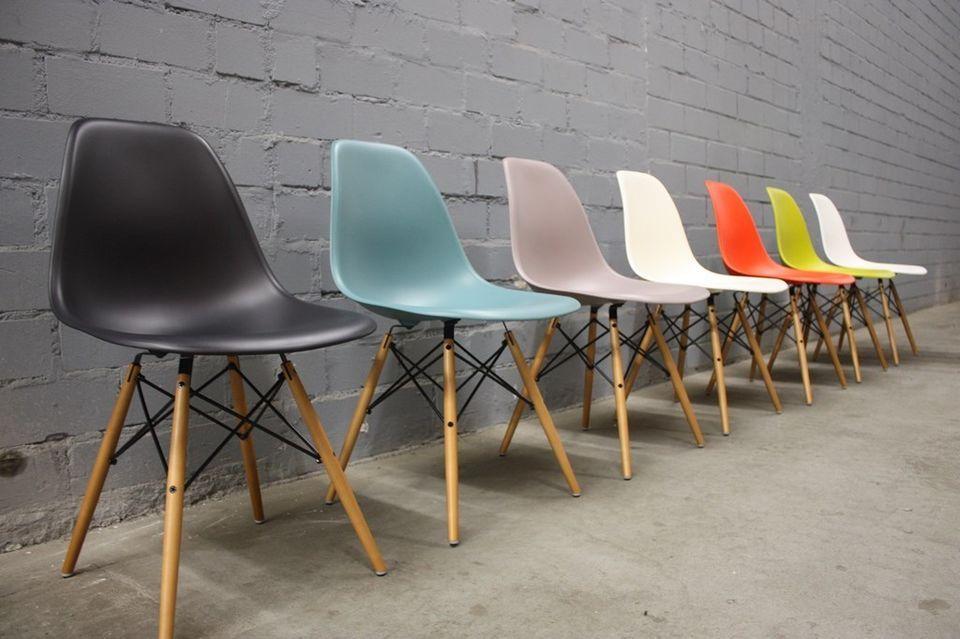 Original Vitra Dsw Charles Eames Chair Stuhl Dining Plastic Side