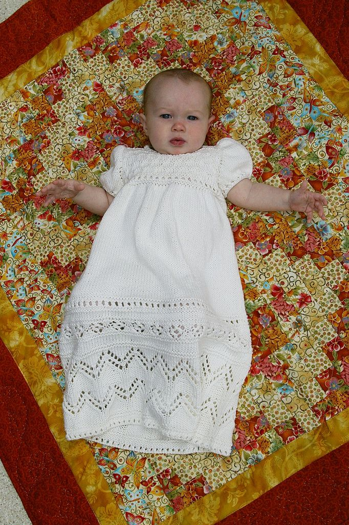 Knit Christening Gown - little less girly than the typical gown ...