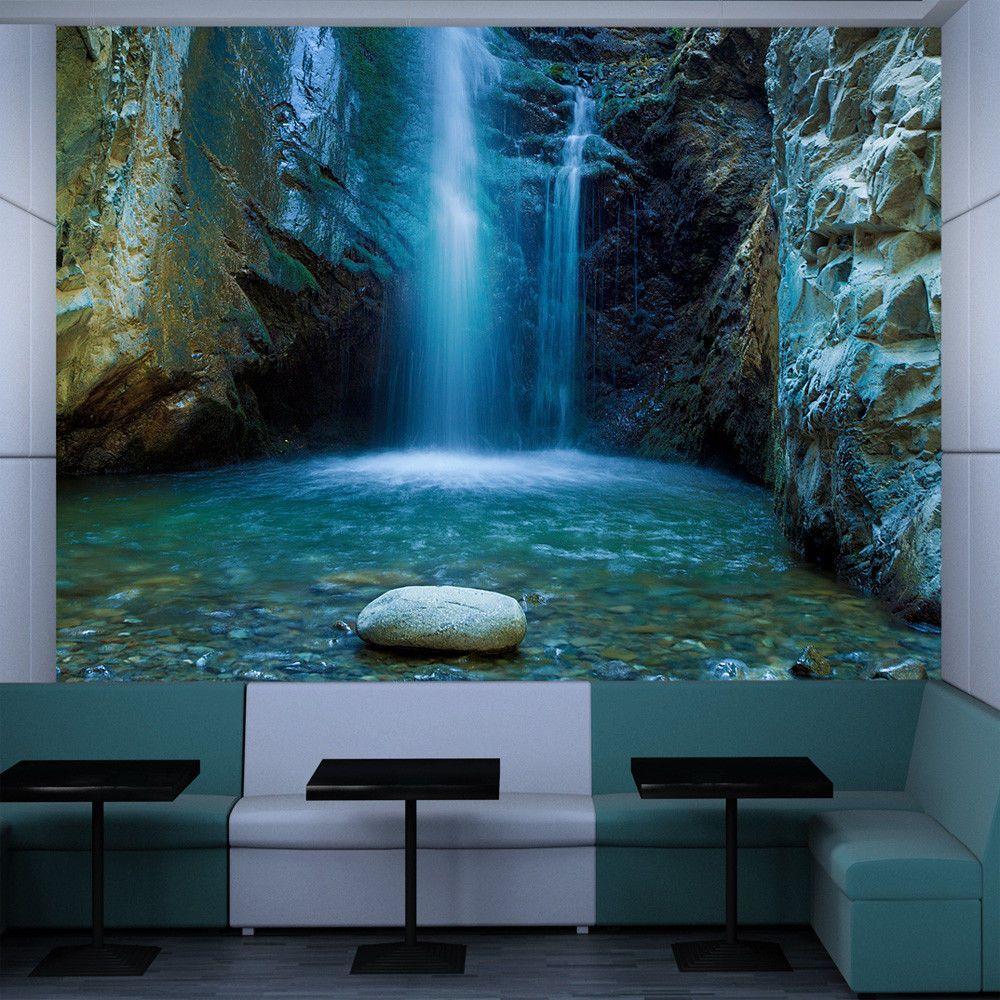 Fototapete wasserfall vlies tapete naturwandbilder xxl wandtapete 100403 182 badezimmer - Fototapete badezimmer ...