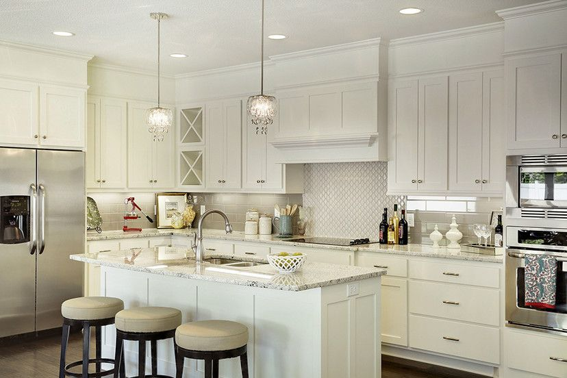 White Kitchen Cabinets With Lovely Little Details Made By Lakeside Cabinets And Woodworking Kitchen Cabinetry Design Custom Kitchens Custom Cabinets
