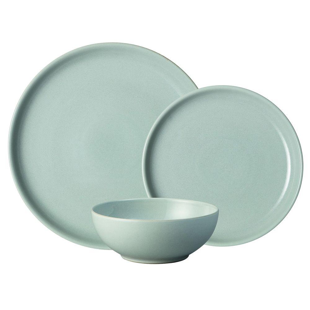 Denby Intro Tableware Set Grey 12 Piece Tableware Set Tableware Denby