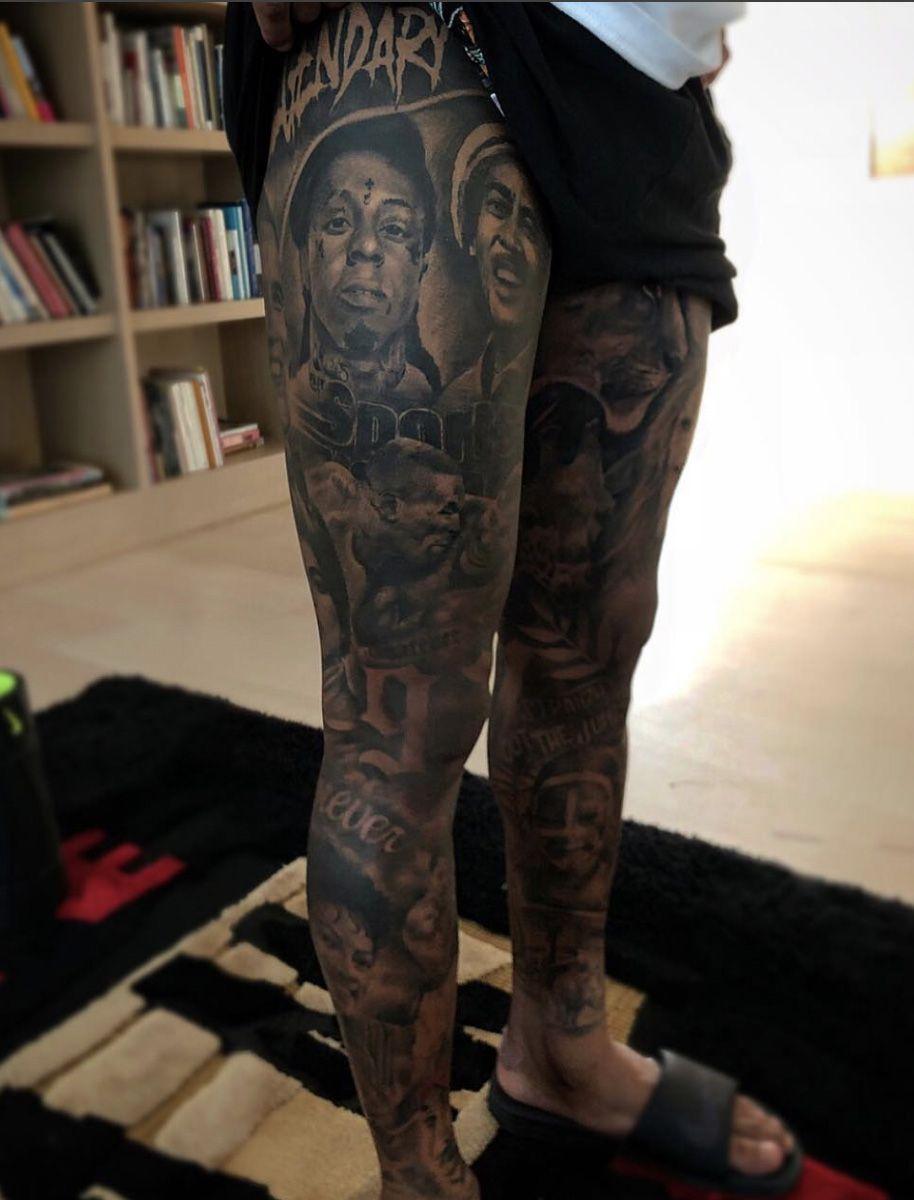 44535cd524995 Full legs for Odell Beckham Junior. By Ganga Tattoo.   ink   Full ...
