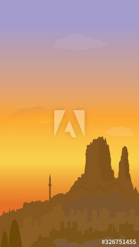 cappadocia sunset in the mountains , #sponsored, #cappadocia, #sunset, #mountains #Ad