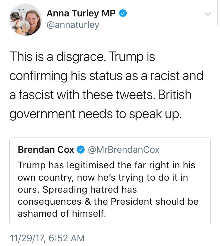 Uk Mps Speak Out Trump Tweets Fascist Racist