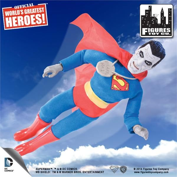 "WORLDS GREATEST HEROES SUPERMAN 8/"" 2014 WB NEW DC COMICS BIZARRO NO 1 TOY CO"