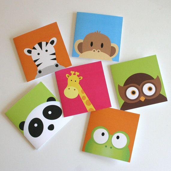 Blank Greeting Cards with Cute Peekaboo Animals by PeekaPals, $15.99