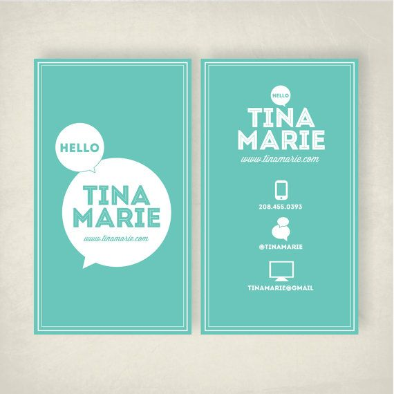 Business Card Template by ChelseaRaeDesigns on Etsy, $2000