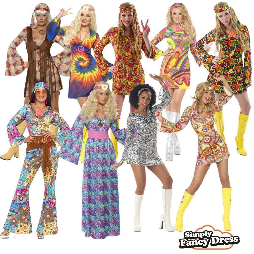 Toddler Hippy Boy Fancy Dress Costume 1970S Flower Power Austin Powers Outfit