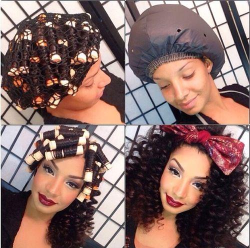 best 25 roller set ideas on pinterest roller set hair. Black Bedroom Furniture Sets. Home Design Ideas
