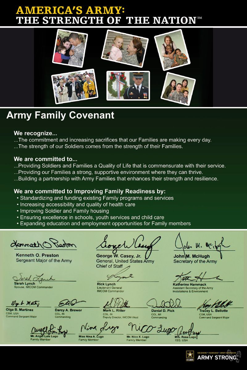 community covenant program Here at the Presidio of