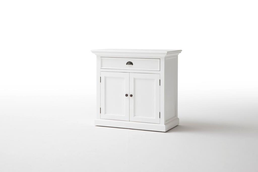 buffet bas bois blanc 1 tiroir 2 portes