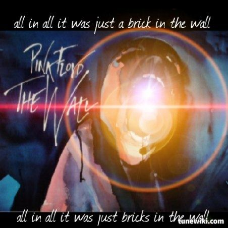 Lyric Art of Another Brick In The Wall Part 1 by Pink Floyd