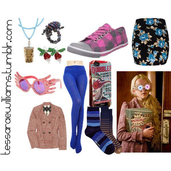 Luna Lovegood Costume Ideas By Tessaraewilliams On Polyvore Featuring Daks Talula Falke Sugar Luna Paul Luna Lovegood Costume Fandom Fashion Luna Lovegood