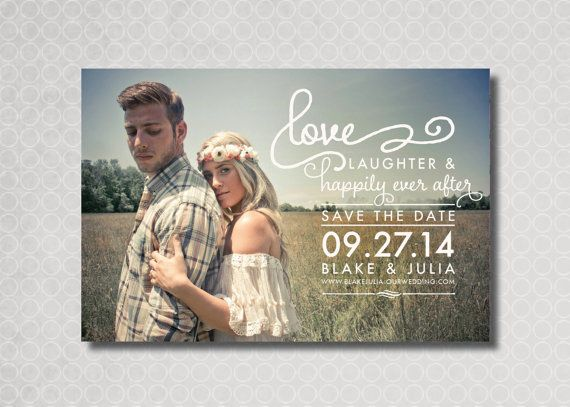 Wedding Invitation Magnet. No Save The Date Necessary. And
