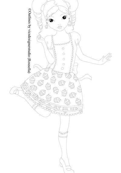 topmodel  cupcake queen outlinevicsdesignerstudio