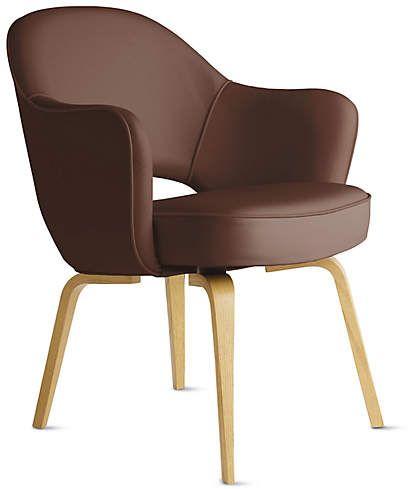 Saarinen Executive Armchair - Wood Legs | Wood arm chair ...