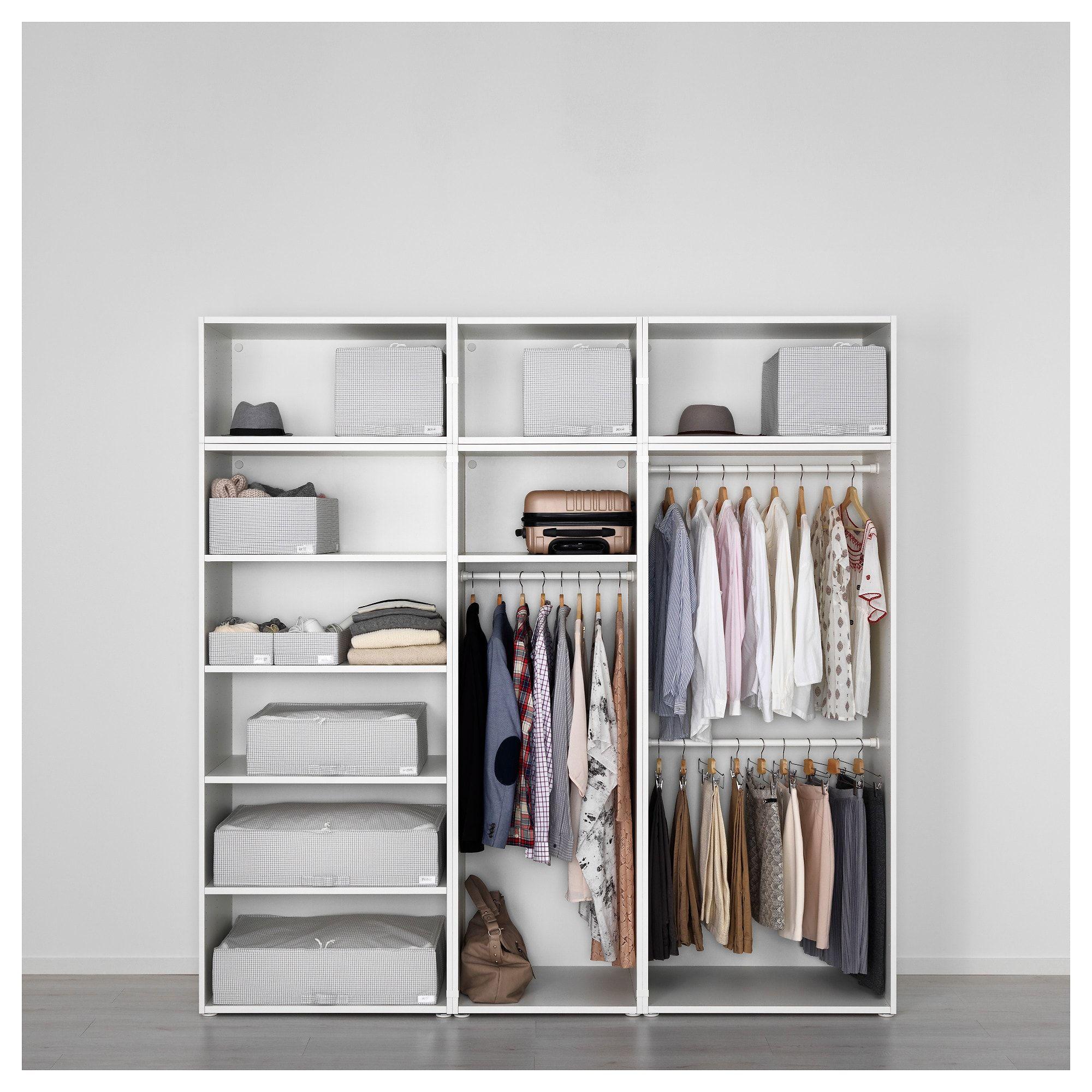 Platsa Kleiderschrank Weiss Skatval Dunkelgrau Auf Die Einkaufsliste Ikea Osterreich Einen Kleiderschrank Bauen Hausmobel Schrank