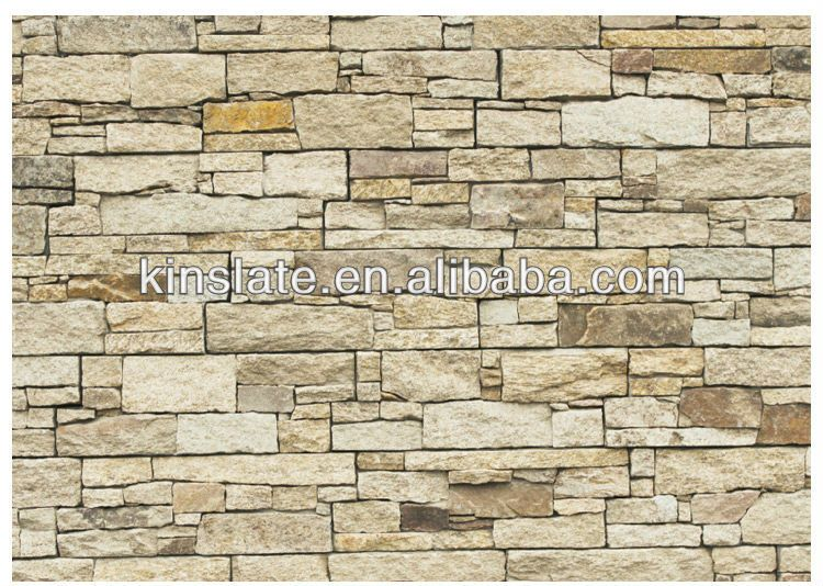 Kinslate Beige Natural Stone Exterior Wall Cladding Tiles