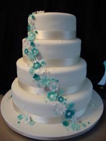 Gateau De Mariage Turquoise Recherche Google Cakes
