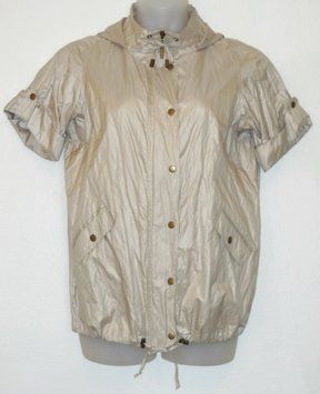 Chico's Hooded Gold Jacket