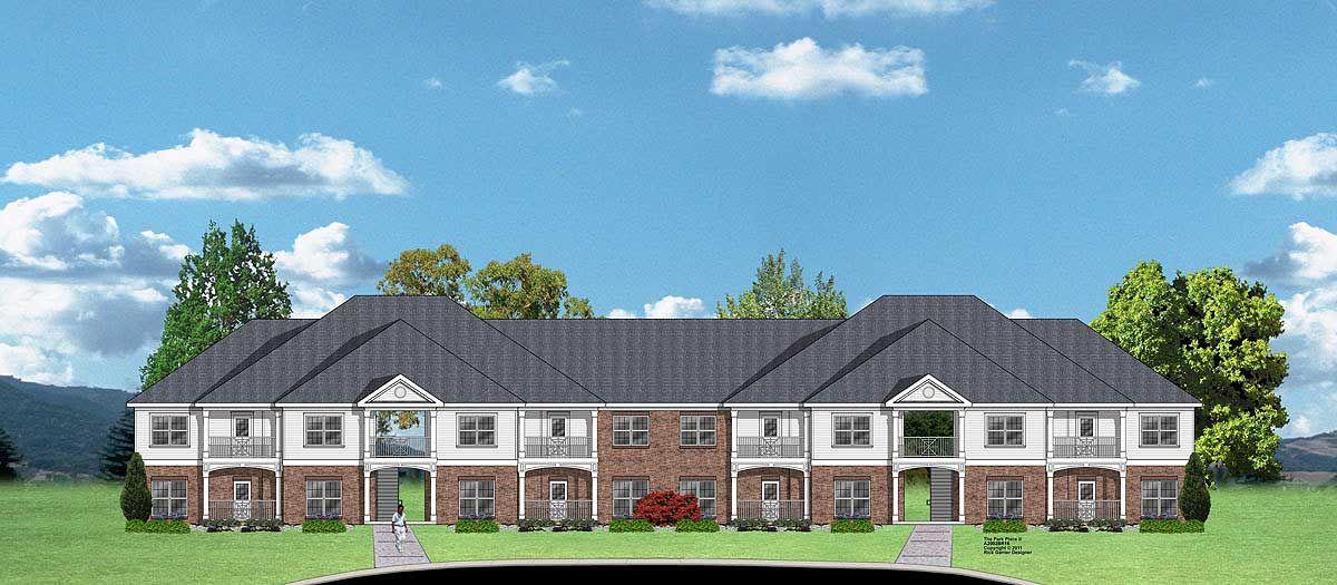 Plan 83138dc 16 Unit Multi Family Complex Plan Apartment Style Apartments Exterior Luxury House Plans
