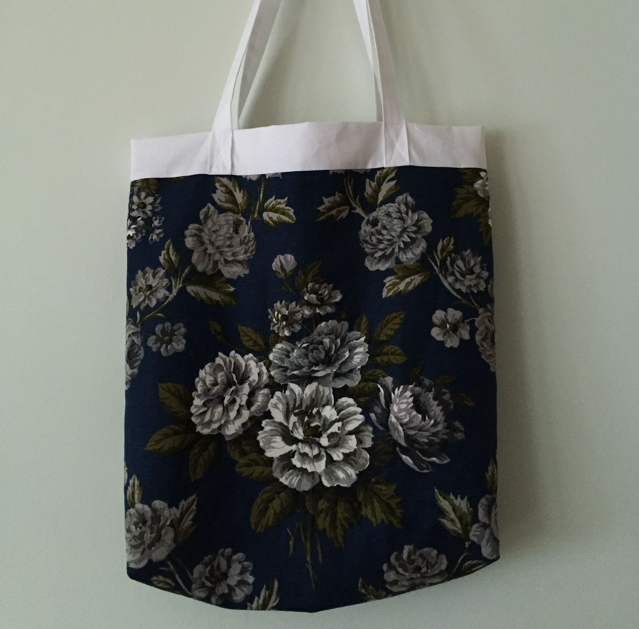 A handmade quality item A tote bag made with vintage fabric