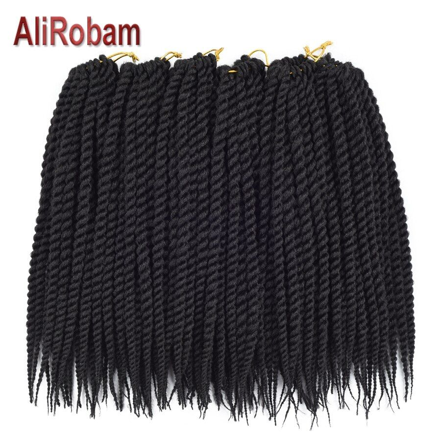 AliRobam Black Brown Ombre Crochet Braids Senegalese Twist Braid Man Woman Synthetic Braiding Hair Extensions 22Roots/pack #crochetsenegalesetwist