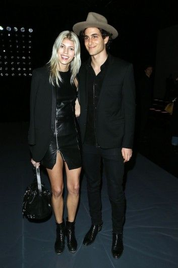 19ca758d0e4 Devon Windsor and Fai Khadra at Saint Laurent show. Click on the image to  see more.