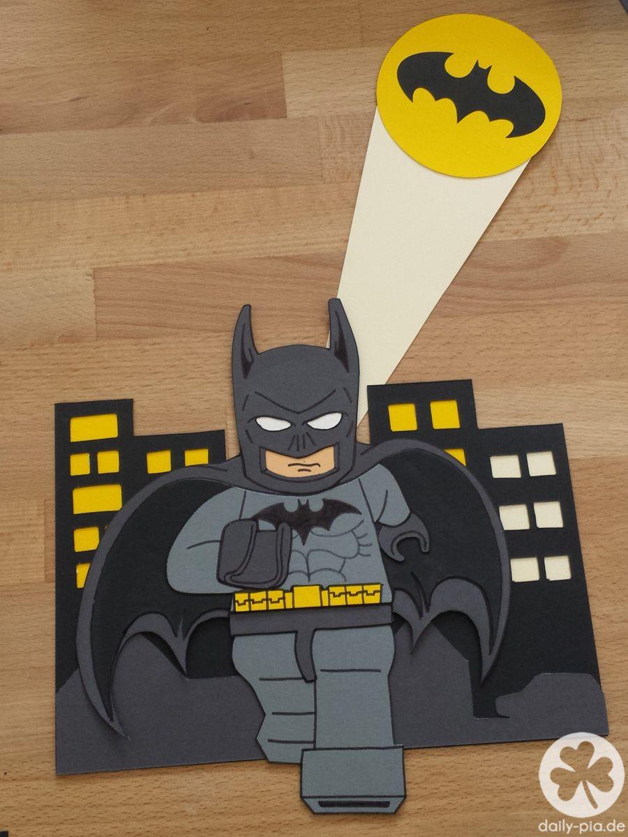 diy motiv schult te selber basteln batman. Black Bedroom Furniture Sets. Home Design Ideas