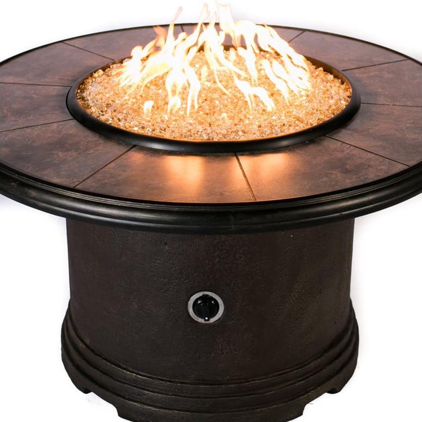 "Tretco 44"" Traditional Round Liquid Propane Concrete Fire ..."