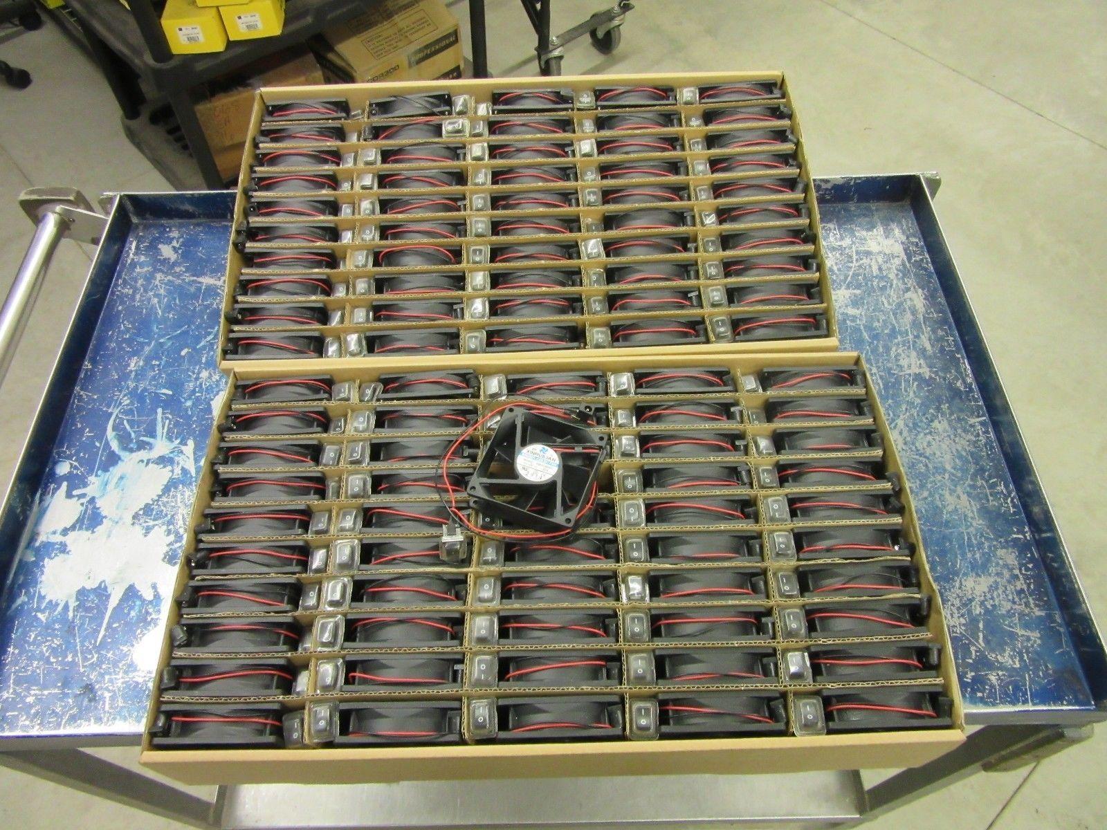 100 XINRUILIAN ZP SERVER CABINET COMPUTER CASE COOLING FAN 12V DC BRUSHLESS  NEW