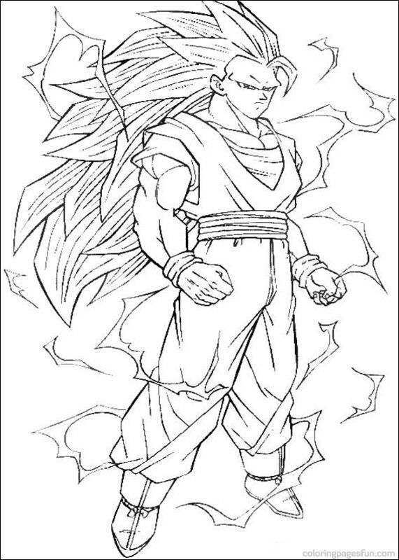 Awesome Dragon Ball Coloring Pages Printable High Quality Http Www Coloringoutline Com Awesom Superhero Coloring Pages Cartoon Coloring Pages Dragon Ball Z