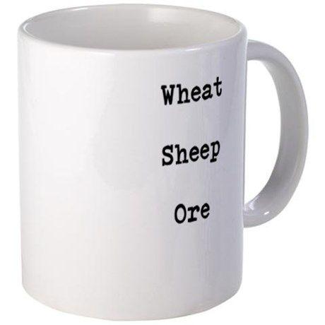 Wheat Sheep Ore Mug on CafePress.com