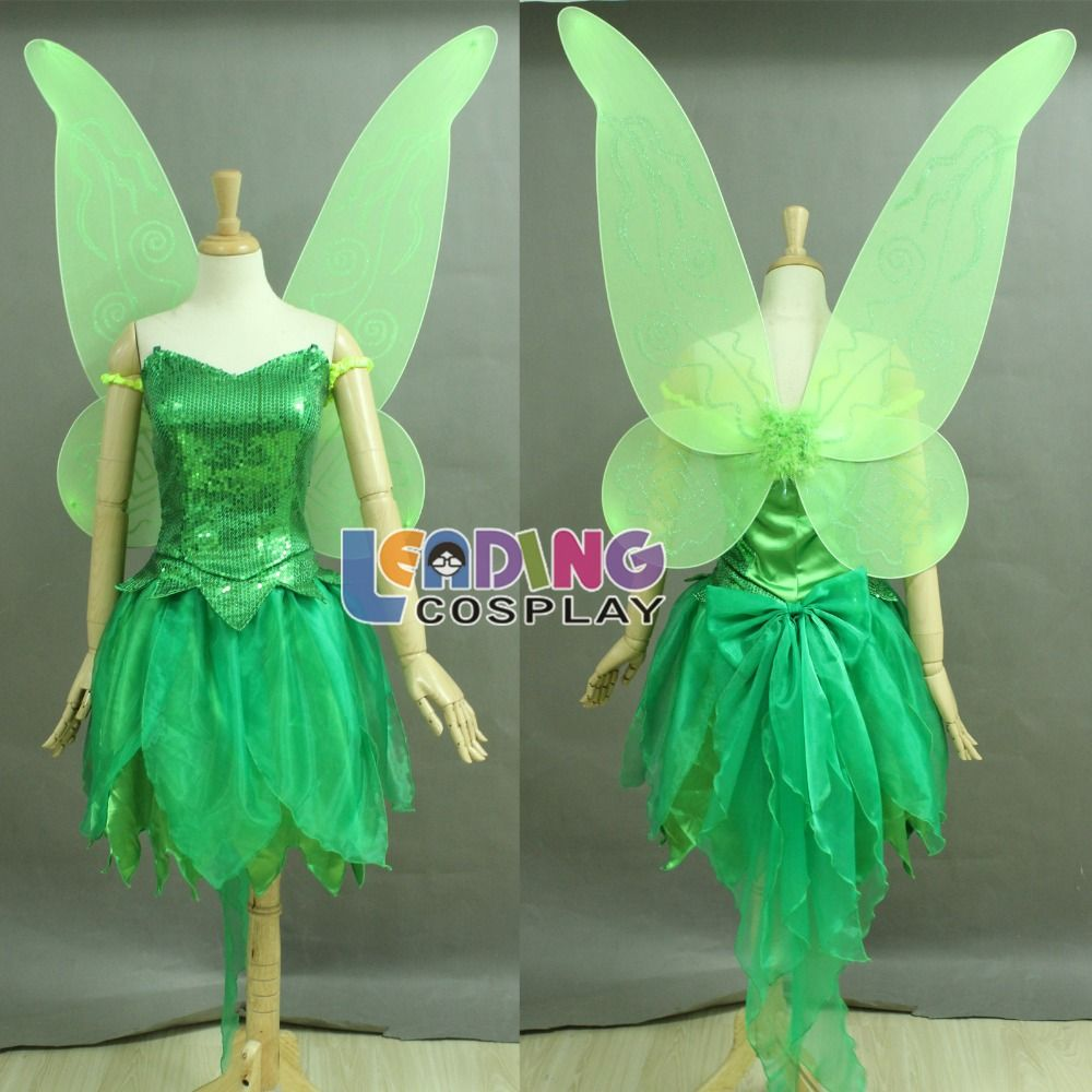 Custom Made Tinkerbell Costume Tinker Bell Dress Peter Pan Cosplay Costume Dress Includes The Wing On Aliexpre Tinkerbell Dress Tinker Bell Costume Tinkerbell [ 1000 x 1000 Pixel ]