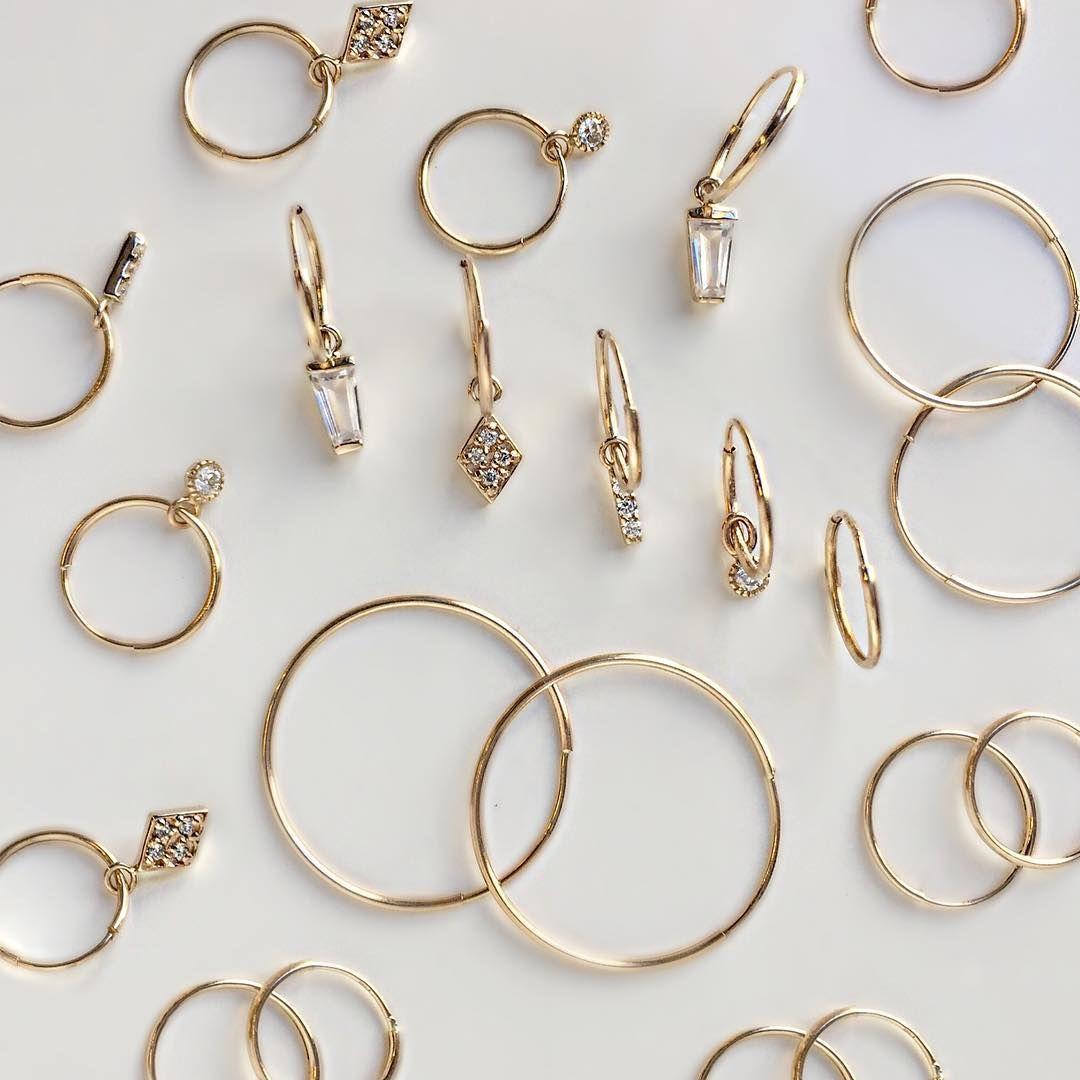 Time to get more piercings... #diamond #hoops #earringcharms #madeinnyc #valejewelry